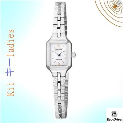 シチズン Kii: キー スクエア 角型 エコ・ドライブ 腕時計  CITIZEN 女性用 今ならポイント5倍 EG2040-55A