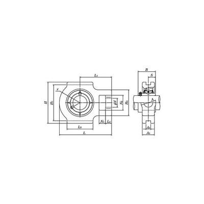 テークアップ形ユニット給油式 エヌティーエヌ(NTN) UCT209D1LLJ