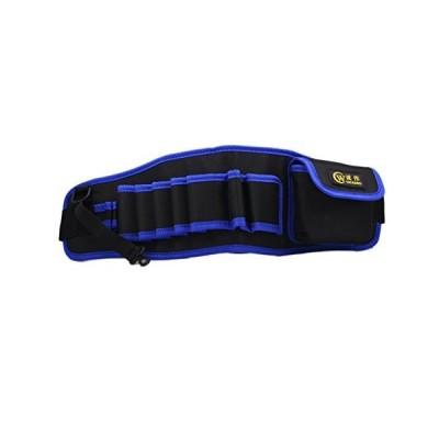 「GeBaoZhen」防水 工具腰袋 ウエスト ポーチ 電工用 ベルト調節可能 工具差し 大容量 多機能 道具袋 ドライバー レンチ ツールバッグ 作