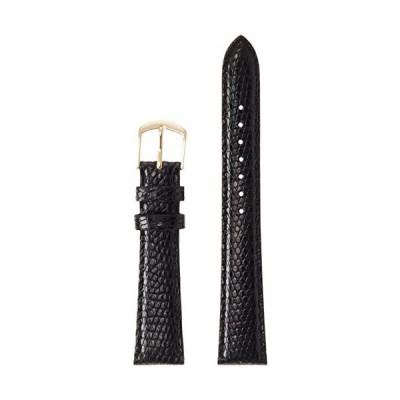 [ミモザ]MIMOSA ミモザ時計バンド CMトカゲ(トカゲ皮革/光沢あり) 17mm ブラック TM-A17