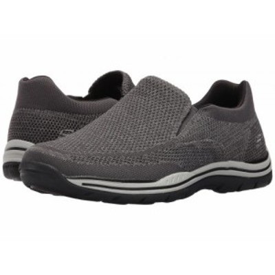 SKECHERS スケッチャーズ メンズ 男性用 シューズ 靴 ローファー Relaxed Fit Expected Gomel Gray Knitted Mesh【送料無料】