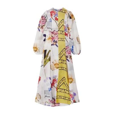 ガニー GANNI ロングワンピース&ドレス イエロー 34 レーヨン 55% / シルク 45% ロングワンピース&ドレス