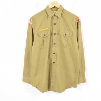 70年代 BOY SCOUTS OF AMERICA BSA 長袖 ボーイスカウトシャツ USA製 メンズS ヴィンテージ 【中古】 【180616】 /wat6639