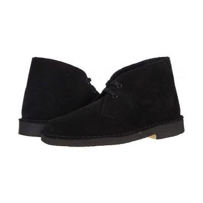 Clarks クラークス レディース 女性用 シューズ 靴 ブーツ チャッカブーツ アンクル Desert Boot - Black Suede 1