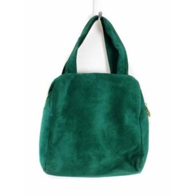 【中古】ピッティ PITTI ハンドバッグ ミニ スエード イタリア製 緑 グリーン レディース