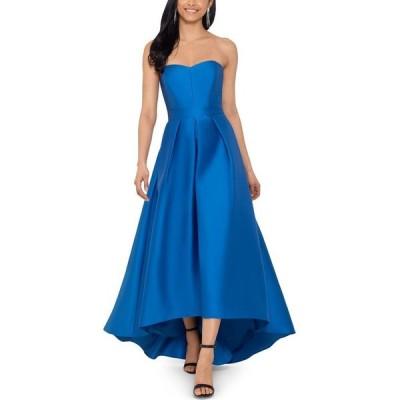ベッツィアンドアダム Betsy & Adam レディース パーティードレス ワンピース・ドレス Strapless High-Low Gown Ocean Blue