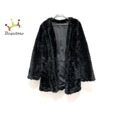 リエンダ rienda コート サイズS レディース 美品 黒 冬物/フェイクファー   スペシャル特価 20210108