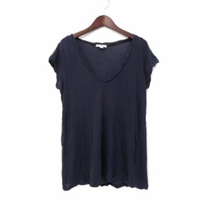 【中古】TOMORROWLAND スタンダードジェームスパース STANDARD James Perse Tシャツ カットソー 1 S 紺 ネイビー 半袖