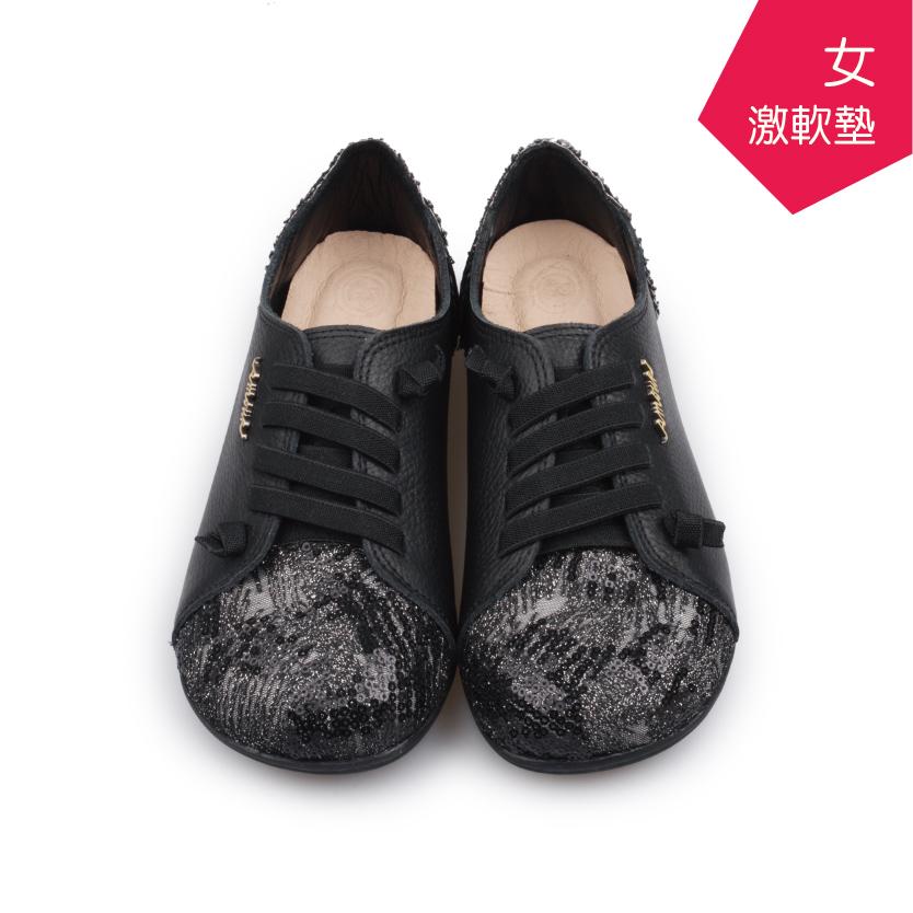 【A.MOUR 經典手工鞋】特色饅頭鞋 - 黑(2835)