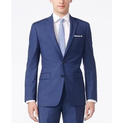 カルバンクライン メンズ ジャケット&ブルゾン アウター Infinite Stretch Solid Slim-Fit Jacket Blue