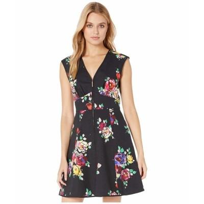 ケイト スペード ワンピース トップス レディース Rare Roses Poplin Dress Black