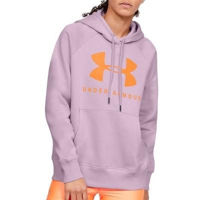 アンダーアーマー パーカー・スウェットシャツ アウター レディース Under Armour Women's Rival Fleece Graphic Hoodie PinkFog