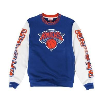 バスケットボール NBA メジャー USA 全米 アメリカ ミッチェル&ネス Mitchell Ness New York Knicks ブルー Excessive Celebration スゥエットシャツ