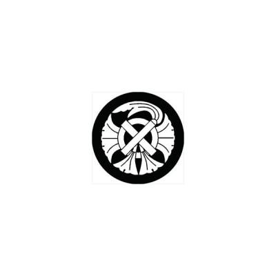 家紋シール 銀杏守紋 直径4cm 丸型 白紋 4枚セット KS44M-0961W