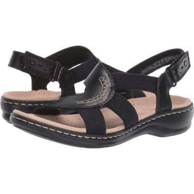 クラークス Clarks レディース サンダル・ミュール シューズ・靴 Leisa Joy Black Leather/Textile Combo