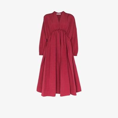 Nackiye レディース ワンピース ミドル丈 ワンピース・ドレス L'Orient midi dress red