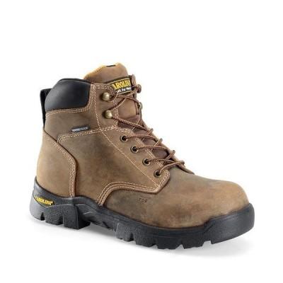 カロリーナ メンズ ブーツ&レインブーツ シューズ Men's Circuit 6#double; Waterproof Composite Toe Work Boots Tan