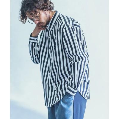 【ANGENEHM(アンゲネーム)】Monotone Stripe Loose Shirts (MADE IN JAPAN) シャツ(ANG21SS-001)