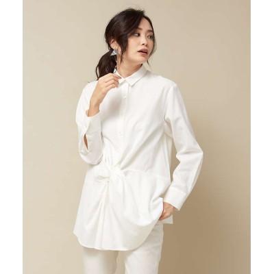 【カリテ】 フロントツイストシャツ レディース オフホワイト 38 qualite