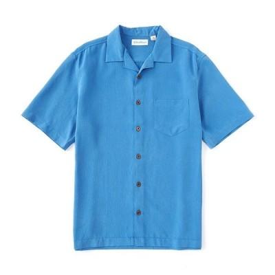 カリビーン メンズ シャツ トップス Short-Sleeve Woven Shirt Blue