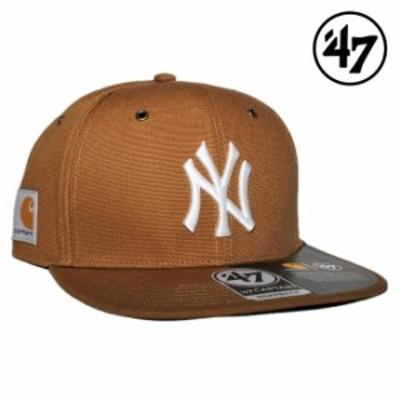 47ブランド カーハート コラボ スナップバックキャップ 帽子 メンズ レディース 47BRAND CARHARTT MLB ニューヨーク ヤンキース フリーサ