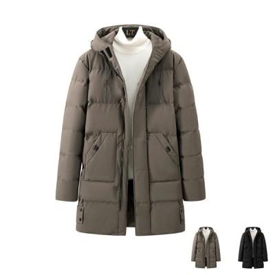 新品SALE!   中綿コート メンズ  ビジネスコート アウター 軽量  防寒 保温 通勤 フード付き 秋冬用 大きいサイズあり