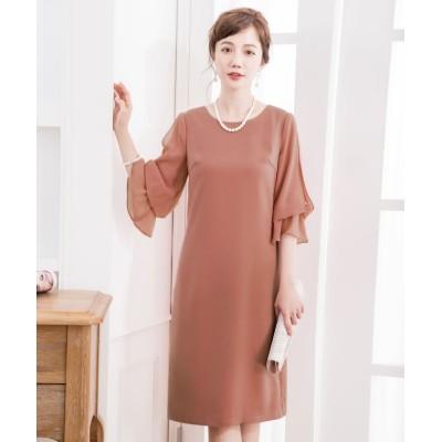 (DRESS STAR/ドレス スター)キャンディーシフォンスリーブワンピースドレス/レディース ライトピンク