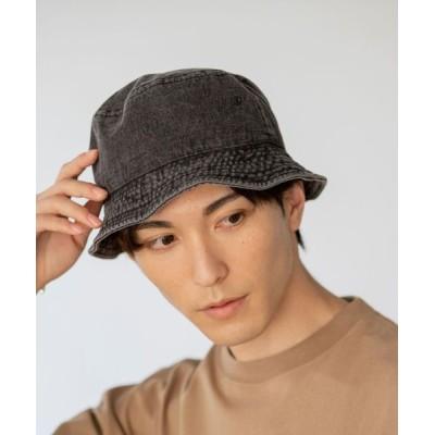 coen メンズ デニムバケットハット 帽子 ブラック