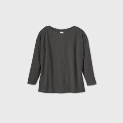 アヴァ&ヴィヴィ Ava & Viv レディース 長袖Tシャツ 大きいサイズ トップス Plus Size Long Sleeve Leisure T-Shirt - Gray