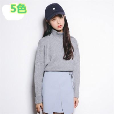 ニットプルオーバー    シンプルニットカーディガン  編み  セーター  カットソー  可愛い