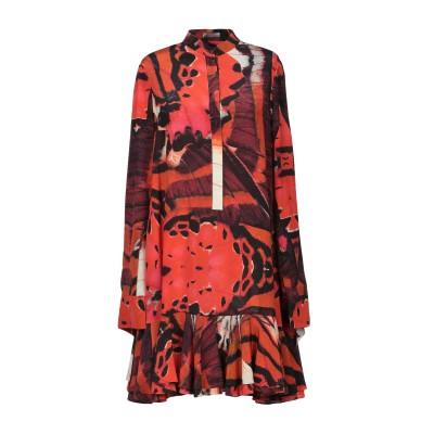 アレキサンダー マックイーン ALEXANDER MCQUEEN ミニワンピース&ドレス オレンジ 36 シルク 100% ミニワンピース&ドレス