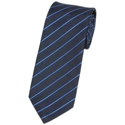 ブルガリ ネクタイ 243737 BVLGARI メンズ ジャカード デザイン SCALES&STRIPES ブルー 紙袋付き
