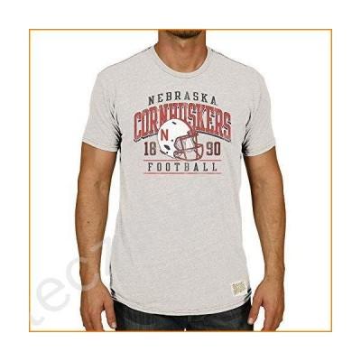 Original Retro Brand NCAA T-Shirts Arch Over Helmet Design (Nebraska Cornhuskers, Large)並行輸入品