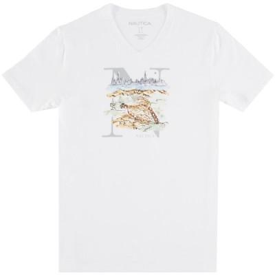 Tシャツ ノーティカ Nautica メンズ Nautica Terrain Graphic Vネック Tシャツ
