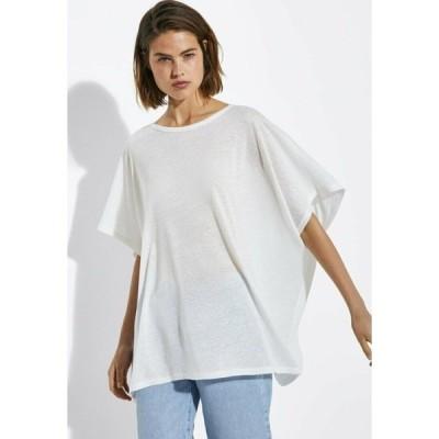 マッシモ ドゥッティ Tシャツ レディース トップス Basic T-shirt - white