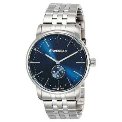 ウェンガー 腕時計 Wenger メンズ Watch Urban アーバン Classic クラシック Blue Dial Silver Tone Bracelet 01.1741.107