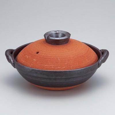 和食器 土鍋 万古焼 黒暖7.0京型鍋 お鍋 食器 おうち 直火