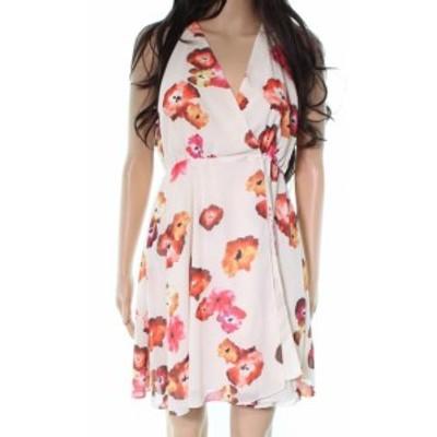Haute Hippie オートヒッピー ファッション ドレス Haute Hippie NEW Beige Floral Print Women Small S Wrap A-Line Dress