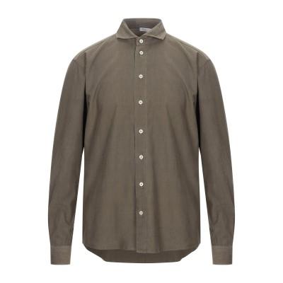 グラン サッソ GRAN SASSO シャツ ミリタリーグリーン 50 コットン 100% シャツ
