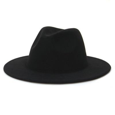 ソフトハットメンズレディースハット帽子秋冬男女兼用ハットきれいめオシャレつば広中折れ帽子