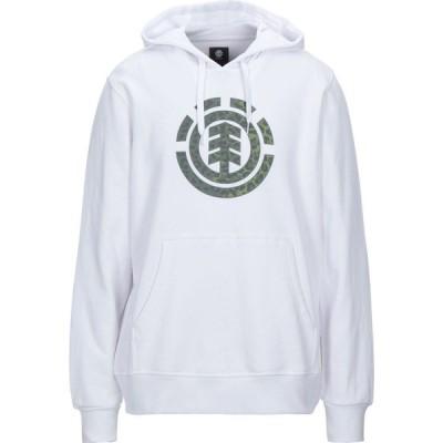 エレメント ELEMENT メンズ スウェット・トレーナー トップス Hooded Sweatshirt White