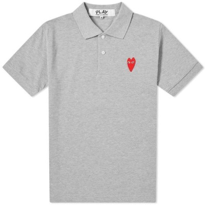 コム デ ギャルソン Comme des Garcons Play メンズ ポロシャツ トップス Large Heart Polo Grey