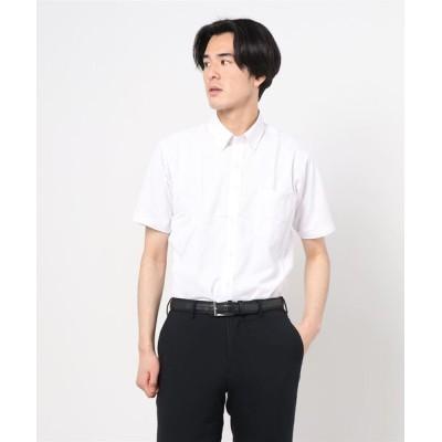 半袖 4Sノーアイロン ボタンダウンシャツ
