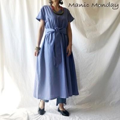 【ポイント5倍】Manic Monday マニックマンデー Linen Dress リネンドレス 9s63003e  BAD STEVIE DAZZLE Manic Monday ZURI