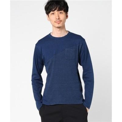 tシャツ Tシャツ VIBGYOR Select/ インディゴ切替ロングTシャツ