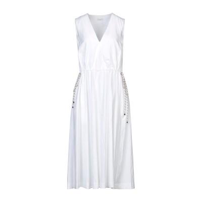 ドリス ヴァン ノッテン DRIES VAN NOTEN 7分丈ワンピース・ドレス ホワイト 34 コットン 70% / 指定外繊維(紙) 30%
