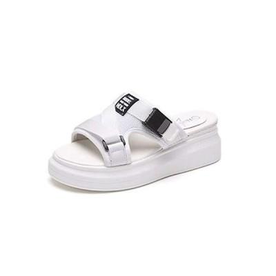 [DEBLE] レディース 厚底 サンダル 軽量 歩きやすい コンフォート シューズ スポーツサンダル ストラップ 靴 ス?