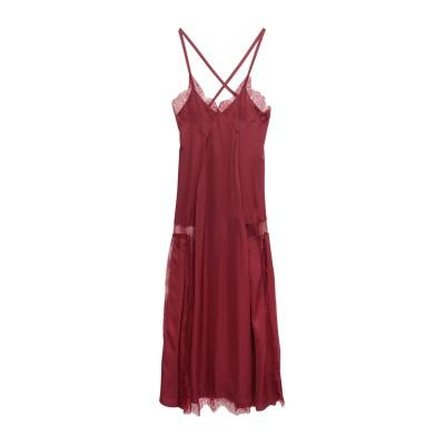 OFF-WHITE™ 7分丈ワンピース・ドレス ボルドー 40 ナイロン 100% / レーヨン / シルク 7分丈ワンピース・ドレス
