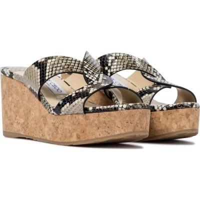 ジミー チュウ Jimmy Choo レディース サンダル・ミュール シューズ・靴 atia 75 snake-effect sandals Natural