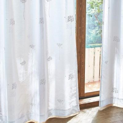 レースカーテン ウォッシャブルボイルカーテン(ボイルサントス・100×133・2枚組)(直送)